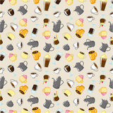 Seamless coffee pattern Stock Photography