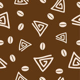 Seamless coffee pattern 2. Seamless coffee pattern. Vector background Royalty Free Stock Image