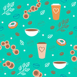 Seamless coffee pattern. Royalty Free Stock Image