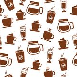 Seamless coffee pattern Royalty Free Stock Photo