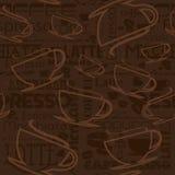Seamless coffee pattern Stock Photos