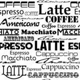 Seamless coffee pattern. Stock Photos
