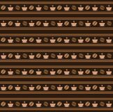 Seamless coffee pattern. Vector wallpaper Royalty Free Stock Photography