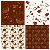 Seamless coffee patterns Royalty Free Stock Photos