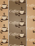 Seamless coffee wallpaper,vector Stock Images