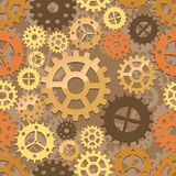 Seamless cogs background Stock Photography