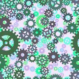 Seamless cogs repeat pattern. stock illustration