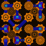 Seamless cogwheel pattern Royalty Free Stock Photos