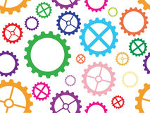 Seamless cogwheel pattern Royalty Free Stock Photography