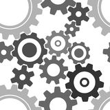Seamless cogwheel pattern. Factory background Royalty Free Stock Photo