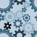 Seamless cogwheel pattern Stock Image