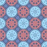 Seamless Cogwheel Pattern Royalty Free Stock Images
