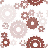 Seamless cogwheel pattern Stock Photos