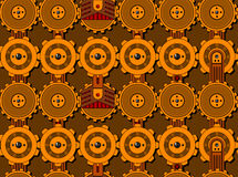Seamless cogwheel pattern Stock Images