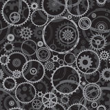 Seamless Cogwheels. Seamless both side Cogwheels pattern, vector layered