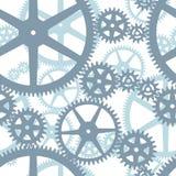 Seamless cogwheels pattern Stock Photography