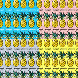 Seamless collection pattern pineapple Stock Images