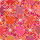 Seamless color absruct flowers pattern. Vector illustration Stock Photos
