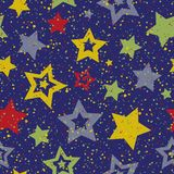 Seamless color abstract star pattern. Vector seamless color abstract star pattern Stock Photos