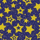Seamless color abstract star pattern. Vector seamless color abstract star pattern Stock Images