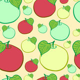 Seamless color apples Stock Photos