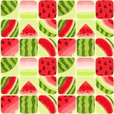 Seamless color background of part of a water-melon Royalty Free Stock Image