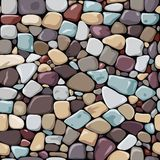 Seamless color background sea pebble Stock Photos