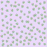 Seamless color pattern background, small flowers with pink buds of pastel colors all over the pattern surface stock illustration