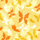 Seamless from color butterflies Royalty Free Stock Photo