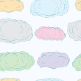 Seamless color clouds Stock Photo