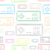 Seamless color contours of gamepads Stock Images