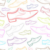 Seamless color contours male shoe 2 Royalty Free Stock Photos