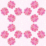 Seamless color decorative flower pattern Royalty Free Stock Photography