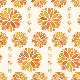 Seamless color decorative flower pattern Royalty Free Stock Photo