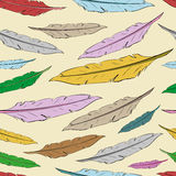 Seamless color feathers Royalty Free Stock Photography