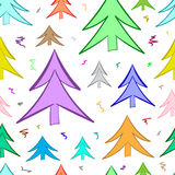 Seamless color fir-trees Royalty Free Stock Image