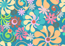 Seamless color floral background. Seamless pattern with tender flowers, beautiful illustration Royalty Free Stock Photography