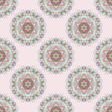 Seamless color floral mandala pattern Royalty Free Stock Photography