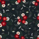 Seamless color flower wallpaper pattern Stock Photos