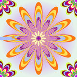 Seamless with color flowers. Seamless background  with color flowers Royalty Free Stock Photo