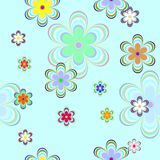 Seamless with color flowers. Seamless background  with color flowers Royalty Free Stock Photography
