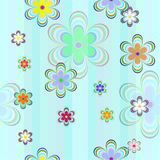 Seamless with color flowers. Seamless background  with color flowers Royalty Free Stock Photos