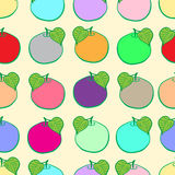 Seamless color fruit Stock Images