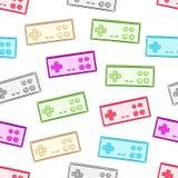 Seamless color gamepads Stock Photos
