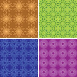 Seamless color geometric patterns - vector Royalty Free Stock Photography