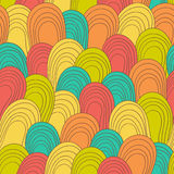 Seamless color hand-drawn pattern. Abstract texture. Royalty Free Stock Photography