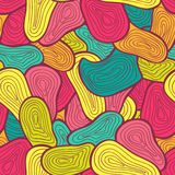 Seamless color hand-drawn pattern. Abstract texture. Royalty Free Stock Image