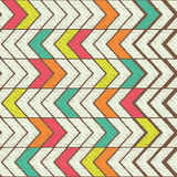 Seamless Color Hand-drawn Triangles Pattern. Tribal Vector Pattern. Royalty Free Stock Photos