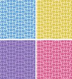 Seamless color heart patterns Royalty Free Stock Photo
