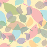 Seamless color leaves texture. Vector Illustration Stock Photography